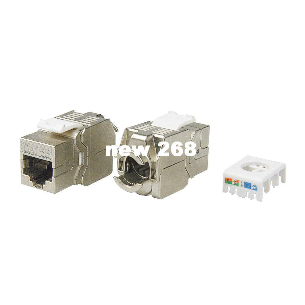 hight resolution of  pack network rj45 cat5e keystone jack full shielded tool free connection linkway brand new rj45 to bnc cable rj45 connector rj45 cat5 jack online with