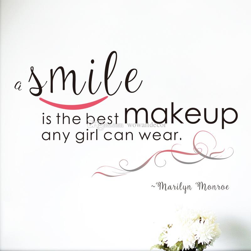 Large A Smile Is The Best Makeup Marilyn Monroe Wall Decal