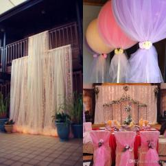Simple Diy Chair Covers Dining Room Removable Custom Madetulle Wedding Decorations Sashes Cheap Spa Discount Christmas Icicles