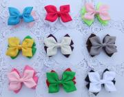 3.5-4 baby ribbon bows with clip