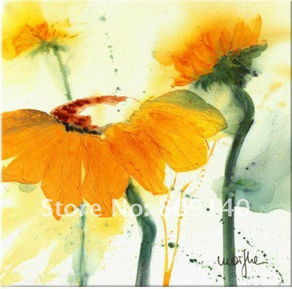 oil painting canvas yellow