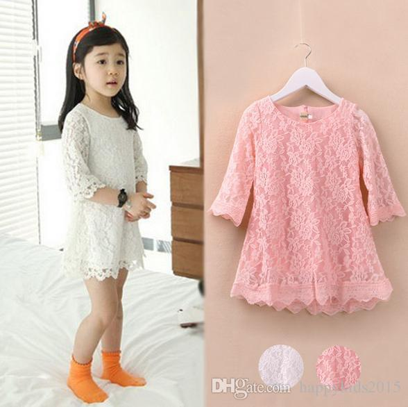 2015 Spring New Beautiful Korean Style Children Girls Lace ...