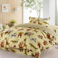 Cartoon Animal Zoo Active Printed Bedding Bedspreads 100%