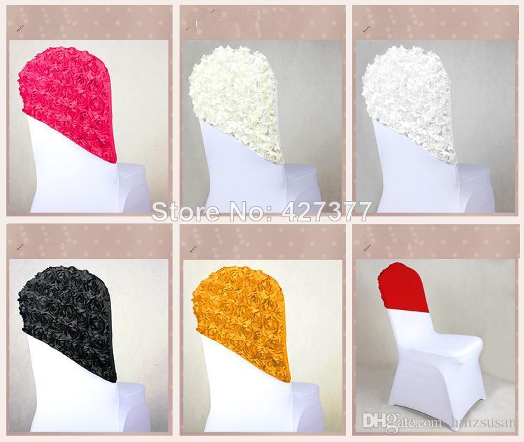 custom banquet chair covers build deck chairs new arrival elegant rose flower cover cap,chair sash sashes for wedding decoration,cap ...