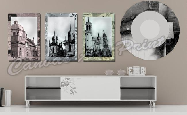 2017 Cheap Large Framed Art Home Decor Wall Paintings 3