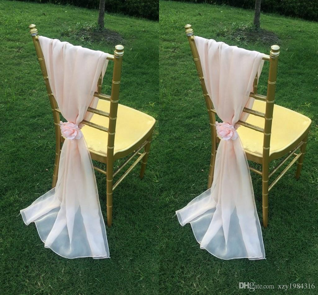 chair covers wedding costs black with red sashes 2019 blush pink chiffon flowers floor