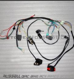 2018 complete electrics atv quad 50cc 70cc 110cc 125cc coil cdi harness wiring [ 1000 x 1000 Pixel ]