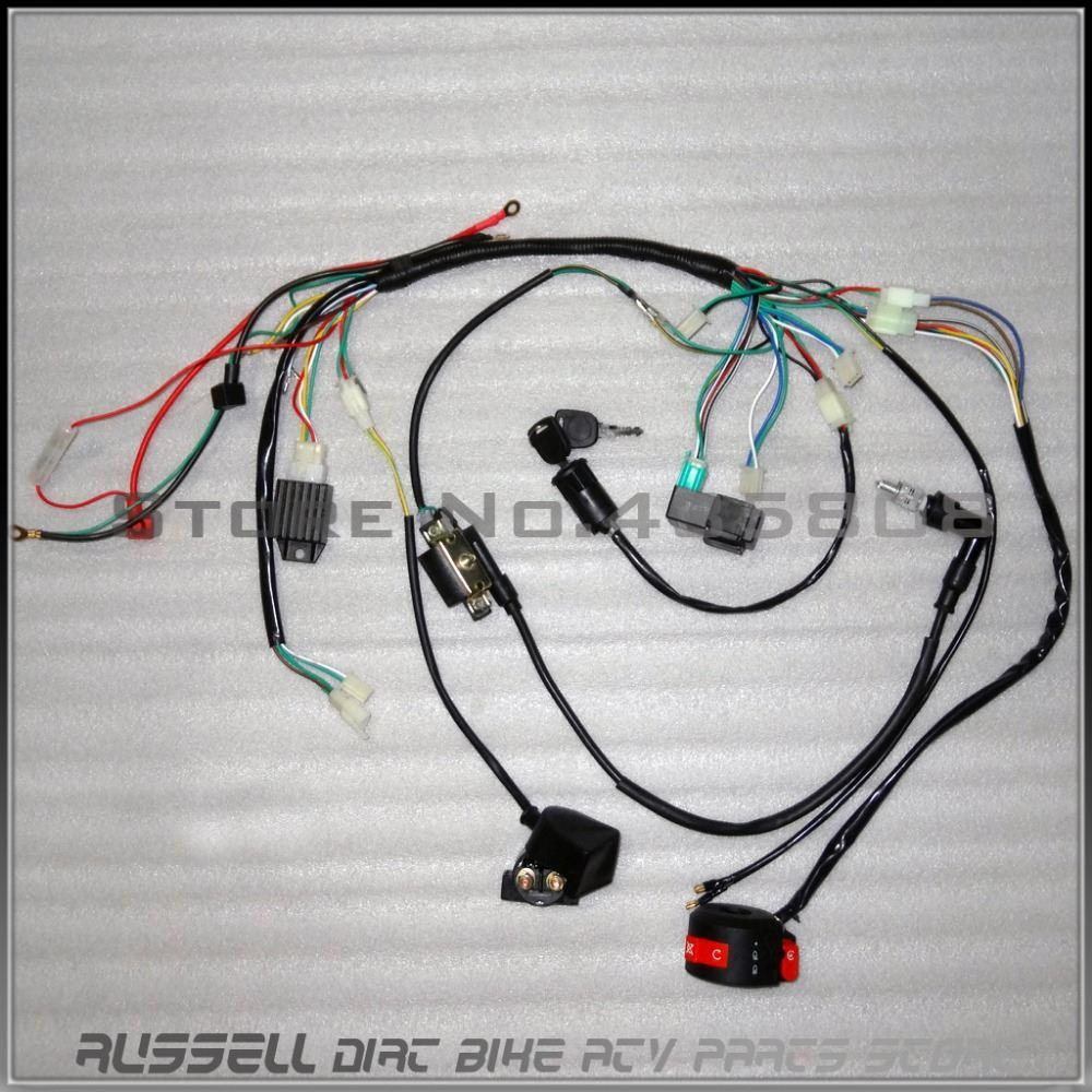 hight resolution of 2018 complete electrics atv quad 50cc 70cc 110cc 125cc coil cdi harness wiring