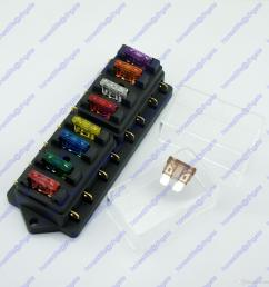 8 way atu standard blade fuse box holder 12v 24v car truck rv camper boat marine [ 1600 x 1600 Pixel ]