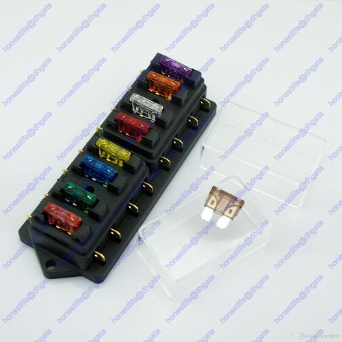small resolution of 8 way atu standard blade fuse box holder 12v 24v car truck rv camper boat marine
