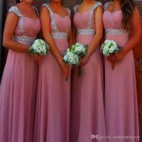 Stunning Royal Blue Dusky Pink Bridesmaid Dresses Long ...