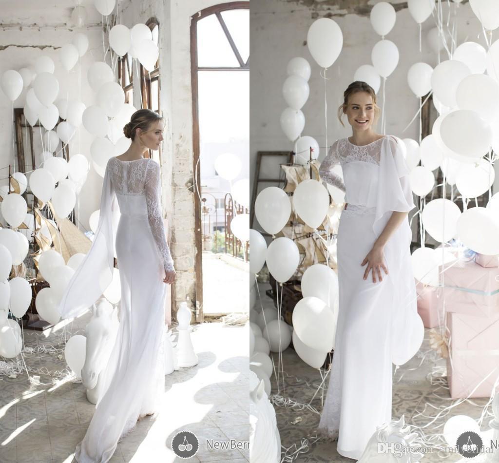 Greek Style Wedding Gowns Sheath