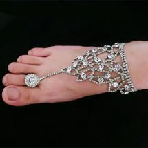Toe Ring with Chain Ankle Bracelets for Women