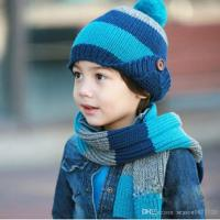 2017 Cute Kids Hat And Scarf Sets Fashion Patchwork Warmer ...