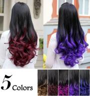 two tone ombre wig dip dye curly