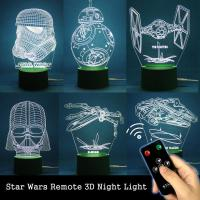 2017 Star Wars Remote 3d Illusion Lamp Acrylic Led Touch ...