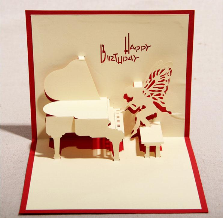 130mm160mm Piano Greeting Cards Fashion Greeting Cards