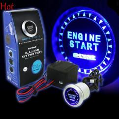 Universal Motorcycle Ignition Switch Wiring Diagram 2002 Vw Jetta Engine Best 12v Car Start Push Button Starter Kit Blue Led Keyless ...