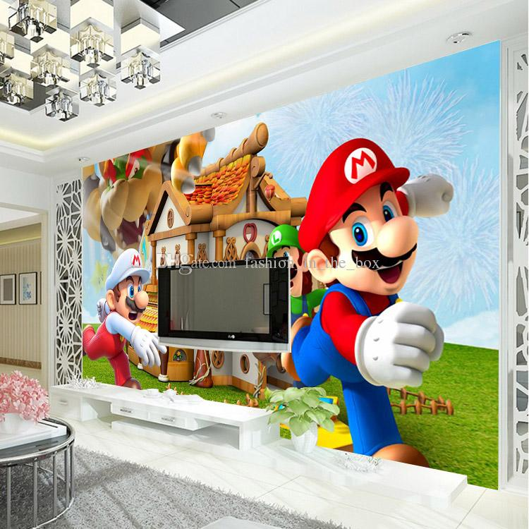 kid proof sofa klaussner reclining and loveseat super mario photo wallpaper personalized custom 3d wall ...