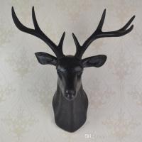 Wall Mounted Black Whitetail Buck Bust Deer Head Art ...