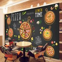 Custom 3d Wallpaper For Walls 3d Pizza Shop Wall Mural ...