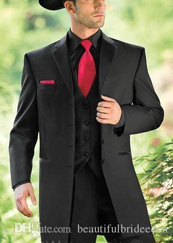 Black Western Cowboy Tuxedos For Men Custom Made Groom