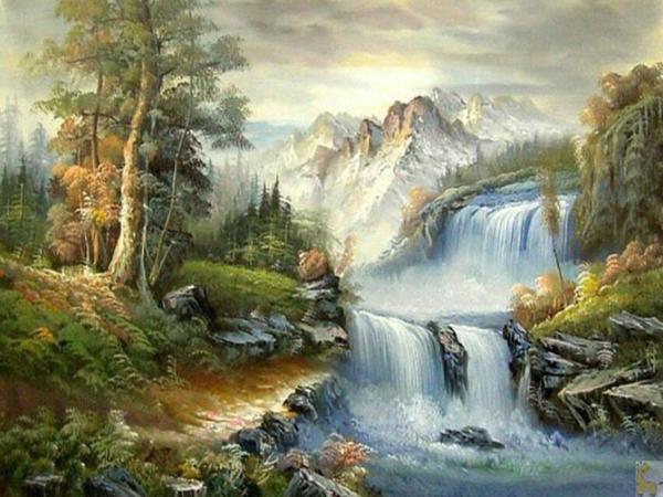 2019 diy 5d waterfall landscape