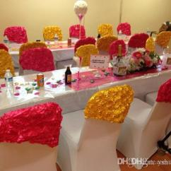 Party Decorations Chair Covers Small Bedroom Ideas Hot Sale Celegant Rose Flower Sash Satin Cheap Fruit Picks Discount Basketball