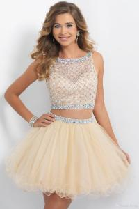 Jr Bridesmaid Dress 2016 Short Prom Dresses Champagne ...