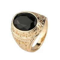 Online Cheap Mens Rings Black Precious Stones Real 18k ...