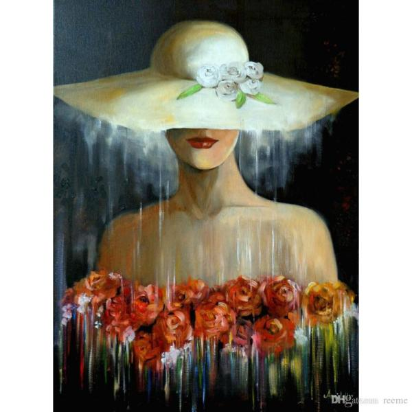 Woman with Flowers Paintings