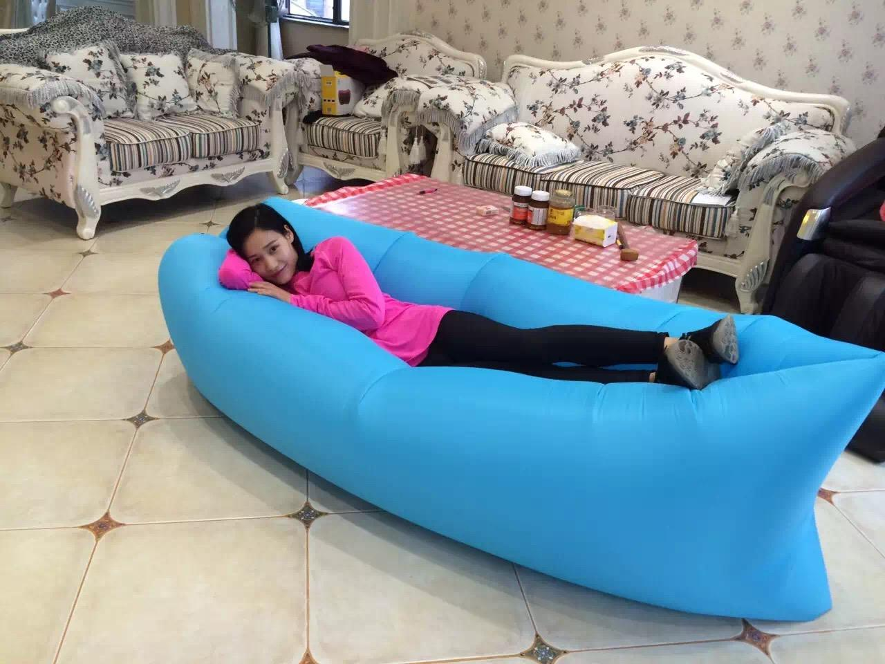 beanless sofa air chair brown fabric texture lamzac hangout fast inflatable sleep camping bed beach