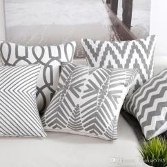 Outdoor Chair Cushion Covers Hammock Stand Nz Grey Geometric Cover Embroidery Decorations For Home Office Modern 45cm Cojines Sofa Throw Pillow Case Pillows On Sale Blue