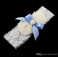 Blue White Lace Wedding Garter Sets Cheap Bridal Garter ...