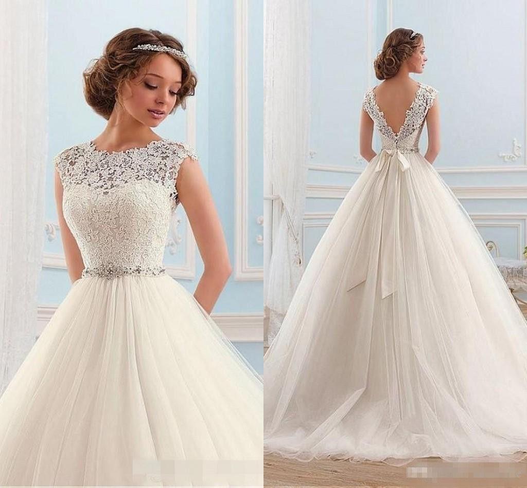 Cap Sleeve Wedding Dress  All Dress