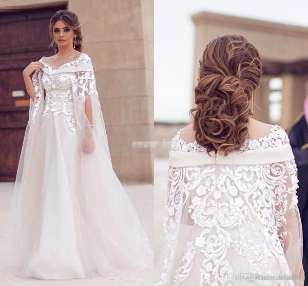 2017 Saudi Arabic Dubai Wedding Dresses Lace