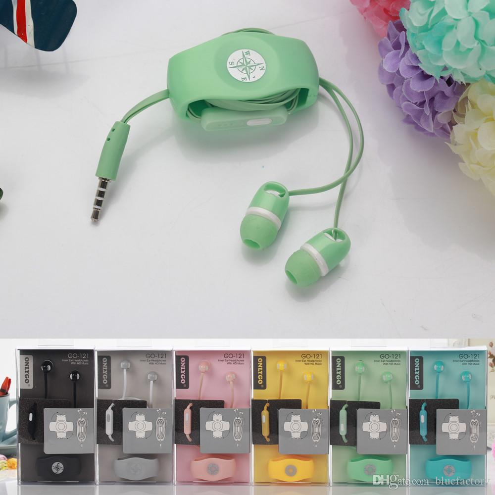 hight resolution of headset in ear earphone with mic 3 5mm onlygo headphone dual candy color with cable holder winder organizer for iphone 6 cell phone mp3 ipod mobile phone
