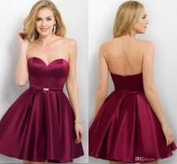 Hot Burgundy Cheap Homecoming Dresses 2017 Short A Line ...