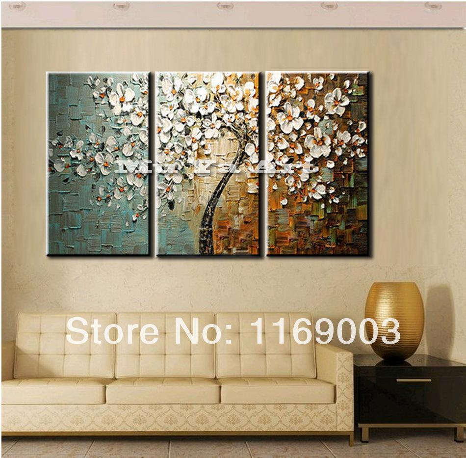 panel wall art canvas tree acrylic decorative pictures hand