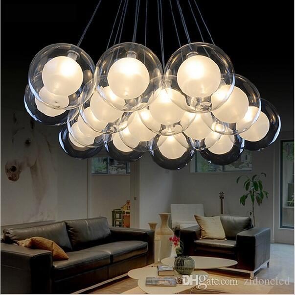 hanging pendant light living room purple set dec glass g4 lamp ac85 265v modern led lights for dining shop bar island lighting from
