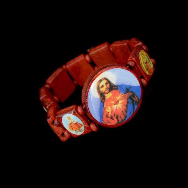 Fashion Wooden Jesus Bracelet Saints Religious