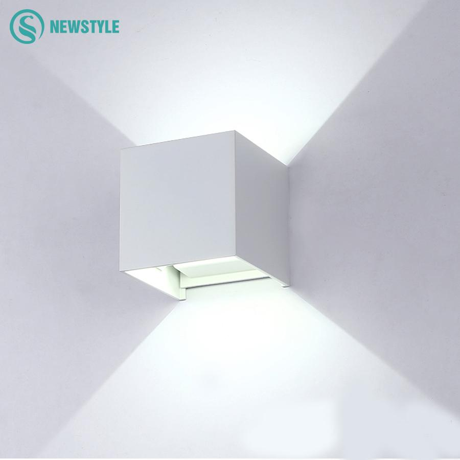 wiring diagram for wall lights 6w white light double cob led switch night single line building electrical distribution system 2019 cube modern waterproof home decoration lighting outdoor lamp aluminum garden emergency from hehemm