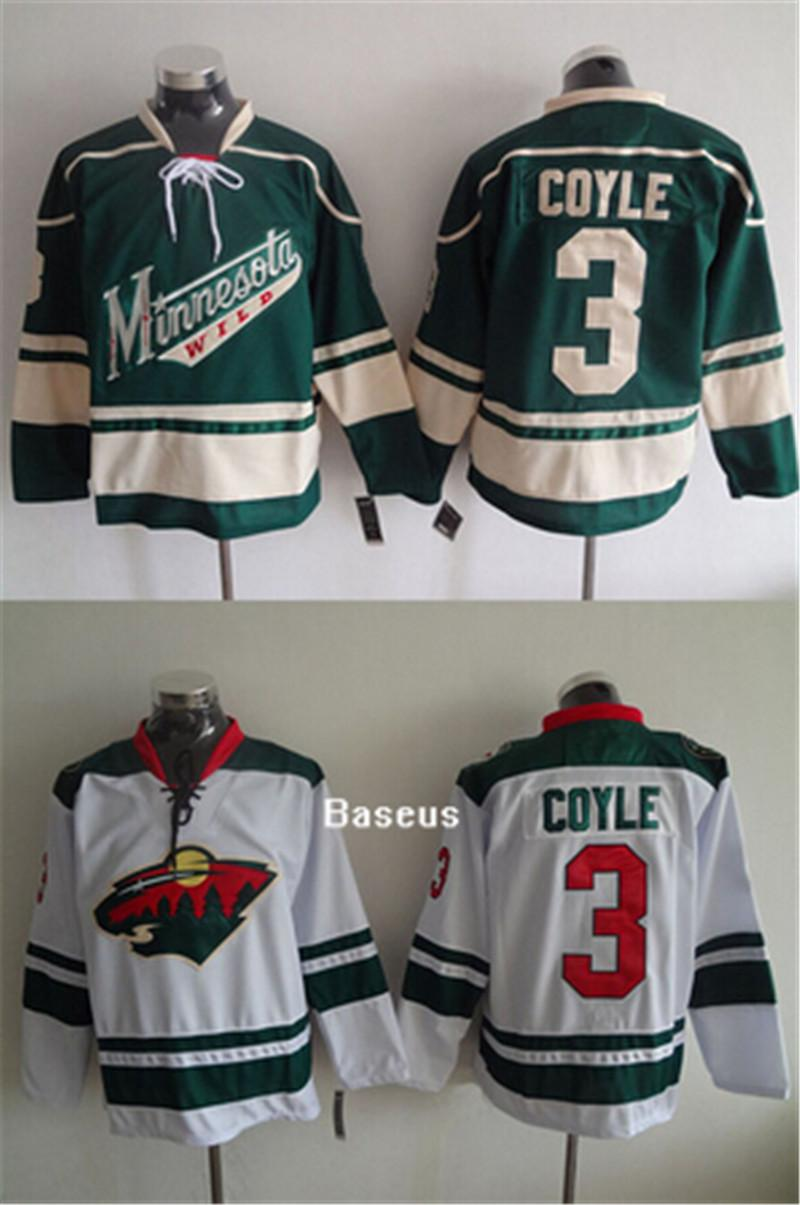 6155e3f55cfa ... Reebok Edge Jersey Youth Mens Green White Minnesota Wild 3 Charlie Coyle  Green Alternate Jersey.