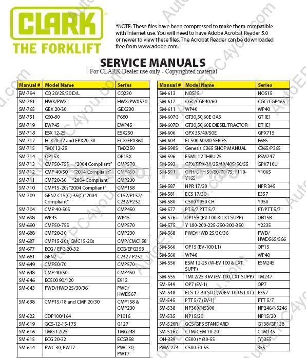 clark service manual 2014?resize=596%2C697 clark c500 40 wiring diagram clark forklift wiring diagram  at gsmx.co