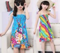 2018 Rainbow Beach Dress Girl Dress Long Bohemian Beach ...