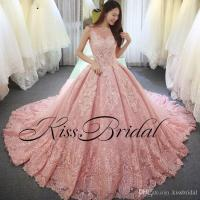 Big Ball Gown Color Wedding Dresses Vintage Full Lace