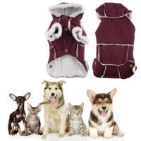 2017 Pet Winter Warm Dog Coat Puppy Clothing Red British ...