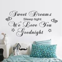 Sweet Dreams Wall Sticker Quotes Art Mural Bedroom Love ...