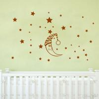 Diy Moon Stars Baby Vinyl Wall Stickers Nursery Kids Room ...