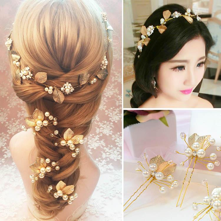 2017 new arrival cheap wedding hair accessories handmade pearl bridal headbands elegant bridal tiaras for wedding after party jewelry hair accessories